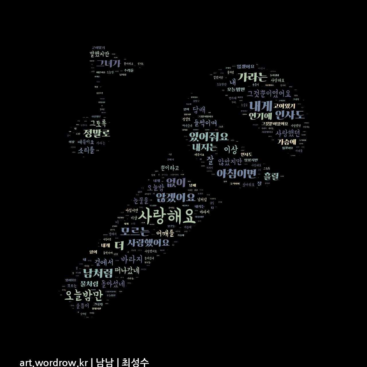 워드 아트: 남남 [최성수]-76